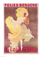 Poster advertising Loie Fuller Fine Art Print