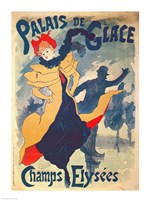 Poster advertising the Palais de Glace on the Champs Elysees Fine Art Print