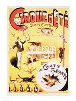 Poster advertising the Cirque d'Ete in the Champs Elysees Fine Art Print