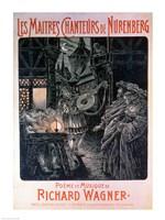 Poster advertising The Master Singers of Nuremberg - various sizes