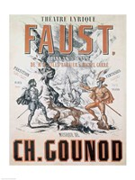 Poster advertising 'Faust', Opera Fine Art Print