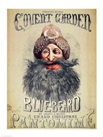 Poster for a Christmas pantomime of 'Blue Beard' Fine Art Print