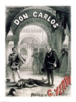 Poster advertising 'Don Carlos' Fine Art Print