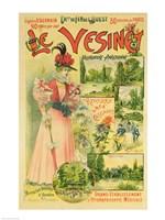 Poster for the Chemins de Fer de l'Ouest to Le Vesinet Fine Art Print