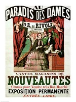 Poster advertising 'Au Paradis des Dames' - various sizes