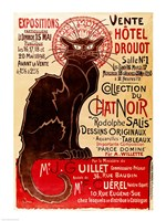 Poster advertising an exhibition of the 'Collection du Chat Noir' Cabaret Fine Art Print