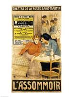 Poster advertising 'L'Assommoir' Fine Art Print