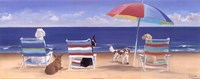 Beach Chair Tails I Fine Art Print