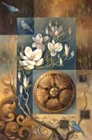 Jardin De Teal Fine Art Print