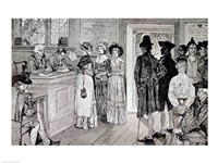Women at the Polls in New Jersey Fine Art Print