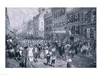 Carnival at Philadelphia, illustration from 'The Battle of Monmouth Court House' Fine Art Print