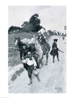 Tory Refugees on Their Way to Canada, illustration from 'Colonies and Nation' Fine Art Print