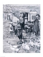 A Quaker Exhorter in New England, illustration from 'The Second Generation of Englishmen in America' by Howard Pyle - various sizes