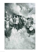 The Burning of Jamestown, 1676, illustration from 'Colonies and Nation' Fine Art Print