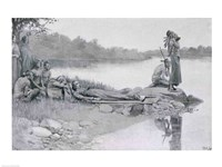 The Death of Indian Chief Alexander, Brother of King Philip Fine Art Print