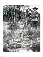 The Death of King Philip Fine Art Print