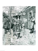 Governor Andros and the Boston People Fine Art Print