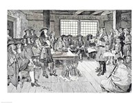 William Penn in Conference with the Colonists Fine Art Print