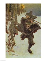 Once it Chased Doctor Wilkinson into the Very Town Itself Fine Art Print