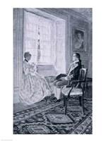 Washington and Mary Philipse Fine Art Print