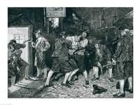 The Press Gang in New York Fine Art Print