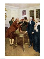 A Committee of Patriots Delivering an Ultimatum to a King's Councillor Fine Art Print