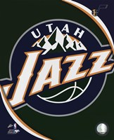 Utah Jazz Team Logo Framed Print