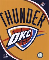 Oklahoma City Thunder Team Logo Fine Art Print