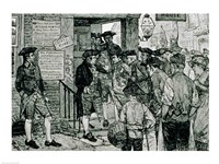 The Mob Attempting to Force a Stamp Officer to Resign Fine Art Print