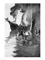Burning of the 'Gaspee' Fine Art Print