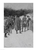 Paul Revere Bringing News to Sullivan Fine Art Print