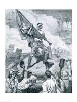 Sergeant Jasper at the Battle of Fort Moultrie Fine Art Print