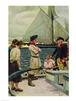 An American Privateer Taking a British Prize by Howard Pyle - various sizes