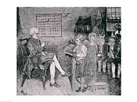 Old-Time School in Pennsylvania by Howard Pyle - various sizes, FulcrumGallery.com brand