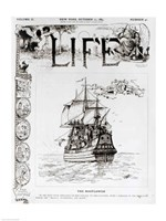 The Mayflower, front cover from 'Life' magazine, 11th October, 1883 Fine Art Print