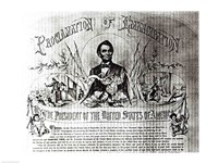 Proclamation of Emancipation by Abraham Lincoln, 22nd September 1862 Fine Art Print