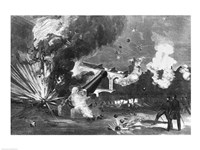 The Interior of Fort Sumter During the Bombardment, 12th April 1861, 1861 - various sizes