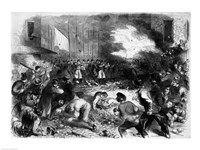 The Sixth Regiment of the Massachusetts Volunteers Firing into the Mob on Pratt Street - various sizes
