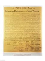 Declaration of Independence of the 13 United States of America of 1776 Fine Art Print
