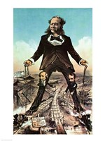 W.H. Vanderbilt as a 'Colossus of Roads' - various sizes