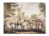 The British Surrendering to General Washington after their Defeat at Yorktown Fine Art Print
