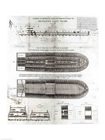 Stowage of the British Slave Ship 'Brookes' Under the Regulated Slave Trade Act of 1788 Fine Art Print