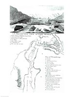 A Perspective View of Lake George and a Plan of Ticonderoga Fine Art Print