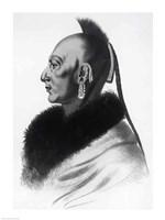 Le Soldat du Chene, an Osage Chief Fine Art Print