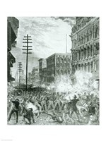 The Great Strike: The Sixth Maryland Regiment Fighting Its Way Through Baltimore - various sizes