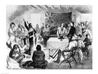Sitting Bull Council, 1877 Fine Art Print