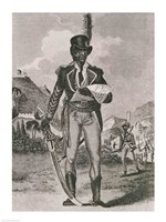 Portrait of Francois Dominique Toussaint-Louverture Fine Art Print
