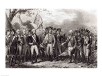The British Surrendering their Arms to General Washington Fine Art Print