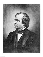 Portrait of Andrew Johnson Fine Art Print
