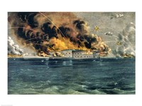 Bombardment of Fort Sumter Fine Art Print